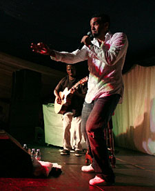 Craig David performing at the Spoony Classic golf day