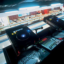 The view from the Sound Division Group's highly-specified DJ console at All Star Lanes